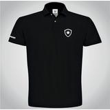 Camisa Botafogo Preta Polo Torcedor Alvinegro Masculina