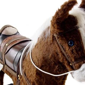 Cavalo Cavalinho Brinquedo Madeira E Pelucia Country Present