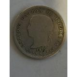 Moneda Estados Unidos De Colombia De 10 Centavos 1875