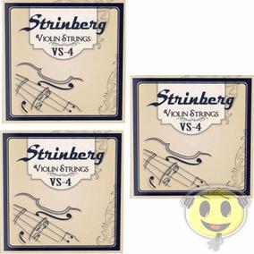 3 Encordoamento Violino Strinberg Vs4 - Loja Kadu Som