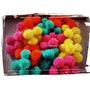 100 Pompones De Lana Colores A Elección 3,5 Cm -