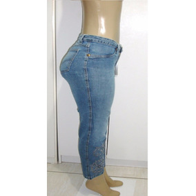 Calça Jeans Femintam. 44 C/ Strech Marca Claudia Velasco A-3