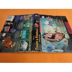 Caixa Cortada Timon & Pumbaas Original Super Nintendo Snes