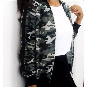 Jaqueta Bomber Militar Camuflada Feminina