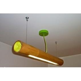Lampara Minimalista De Bambú