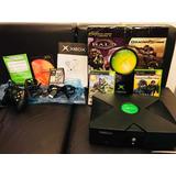 Xbox Clasico Impecable + Caja Original + Manuales + Juegos