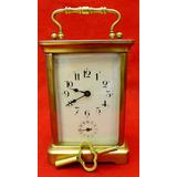 Antiguo Reloj De Carruaje Frances, (principios Del1890)