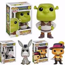 Box Com Os 03 Personagens, Shrek, Burro E Gato De Botas