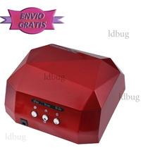 Lampra 36watts Profesional Uñas Led/uv Sensor+100 Cristales