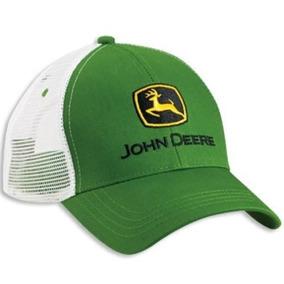 Camionero De Malla Blanco Verde De John Deere Gorra Curvada