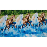 Manta De Microfibra Estampa De Cavalo Mais Barata E Bonita