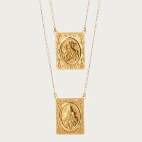 Escapulário São Jorge Em Ouro 18k (750)