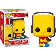Boneco Funko Pop Os Simpsons Gamer Bart 1035 Video Game Tv