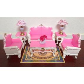 Mueble Para Casa De Muñeca Barbie Blanco Sala Lujo