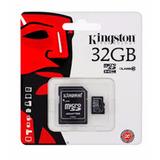 Memoria Micro Sd Kingston 32gb Con Adaptador Nueva Sellada