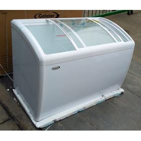 Congeladora Congelador Nueva Grande Tapa Vidrio 370 Lts