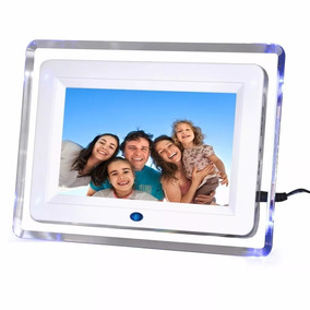 Porta Retrato Digital 7 Polegada Mp3 Video Controle C/luz