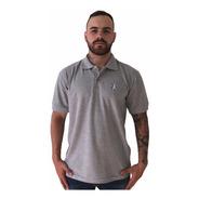 Camisa Polo  Piquet Lobo Masculina  Mescla