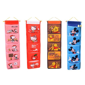 Organizador Infantil De Pared Snoopy Kitty Mickey Pooh