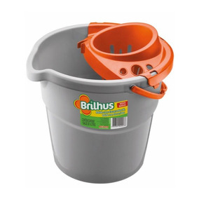 Brilhus Balde Com Escorredor Plástico 9l
