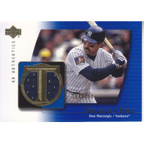 2003 Ud Authentics Threads Time Don Mattingly Yankees /350