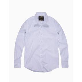Camisa Slim Masculina Com Elastanobranco 0e8f7f6f0c5