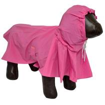 Capa De Chuva Para Cães Cachorros Impermeável Tamanho M Rosa
