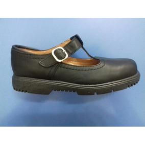 Calzado Colegial Escolar Cuero Guillermina Zapato Hebilla