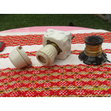 Lote De Antiguo Porta Lampara, Fusible Tapon Porcelana