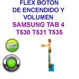 Flex Encendido Boton Power Samsung Tab 4 T530 T531 T535