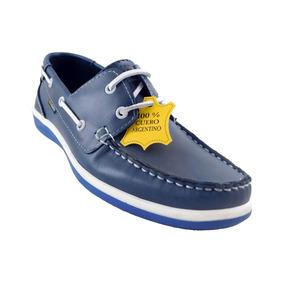 Zapato Nautico Con Cordón - Art. 287 Azul