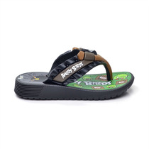 Chinelo Angry Birds Flat - Preto/verde