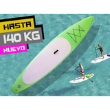 Kit Tabla Stand Up Paddle Inflable 140kg Surf Varios Colores