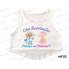 Cropped Chá Revelação Ursinhos Princesa Principe Gestante 22