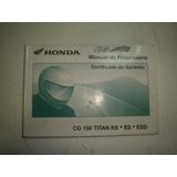 Manual Moto Honda Cg 150 2004 2005 Titan Sport Job Original