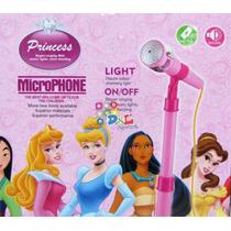 Micrófono Princesas Karaoke Ctrl Volumen Caja Mp3 Celu