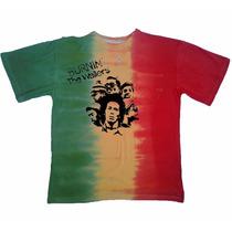 Camisa Camiseta Bob Marley The Wailers Cores Do Reggae