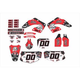 Kit Adesivo Moto Cross Trilha Honda Cr 125 250 2000 Mt010