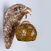 Arandela Aguia De Petit Bronze,tulipa Murano Branca Ar10