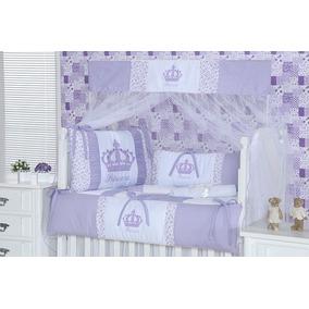 Kit Berço Princesa Com Coroa 10 Peças Enxoval De Bebê Menina