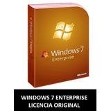 Windows 7 Enterprise Licencia Original