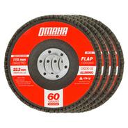 Disco Flap 115 Mm Oxido De Aluminio Grano 60 Pack X 10 Omaha
