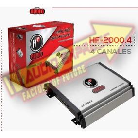 Amplificador 4 Canales C/control De Bajos Externos Hf2000.4