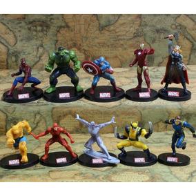 10 Bonecos Super-heróis Marvel Avengers