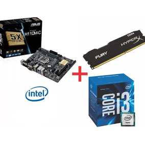 Kit Intel Core I3 6100 + Asus H110m-c/br + 8gb Ddr4 2133mhz
