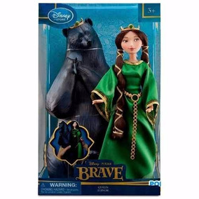 Merida Brave Valiente Elinor Con Estuche Oso Disney Queen