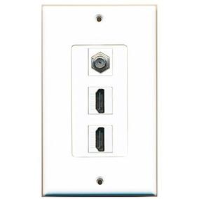 Riteav - 2 Puertos Hdmi 1 Coaxial Tv Por Cable-placa Decora