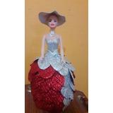 Muñecas Con Vestido De Goma Eva Brillosa