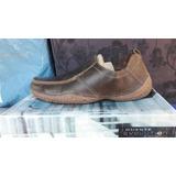 Zapato Marca Guante 100% Cuero Color Café N° 44.