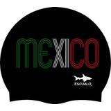 Gorras Adulto Para Natación Modelo Mexico Tricolor